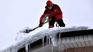 Очистка крыши от снега и наледи, Прима Service