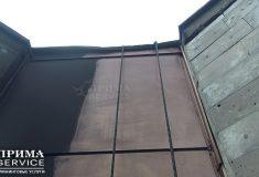 Очистка фасада альпинистами после пожара, Прима Service