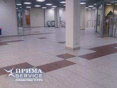 Уборка плитки, мытье напольных покрытий в торговых комплексах, Прима Сервис